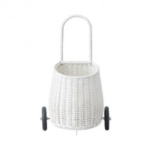 White Basket with Wheels