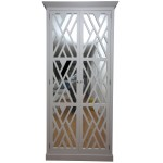 Cabinet with doors in trellis and mirror