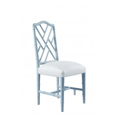 Bamboo Chair blue with fabric