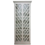 Cabinet with doors in trellis and glass