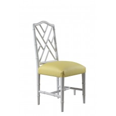 Bamboo Chair  white with fabric