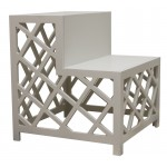 Side table escadote with trellis