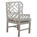 Wing Chair with trellis