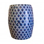 Blue pattern stool